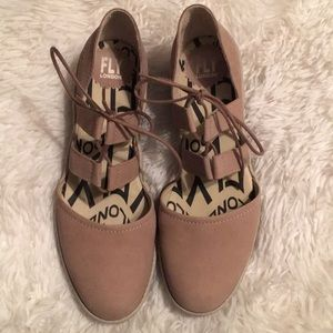 Fly London leather wedge heels